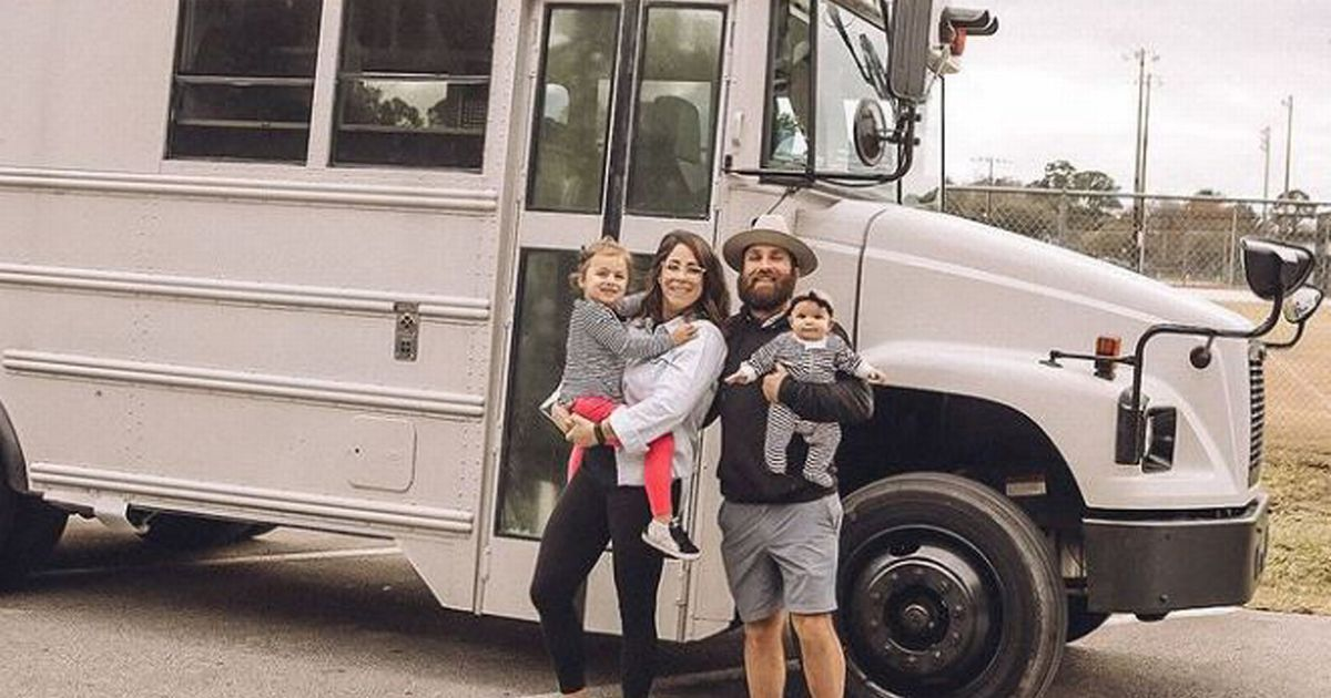 Family sell their home and belongings to live in an old school bus