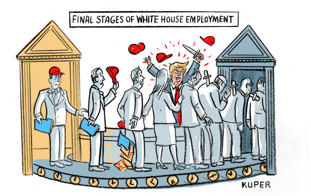 Final Stages of White House Employment