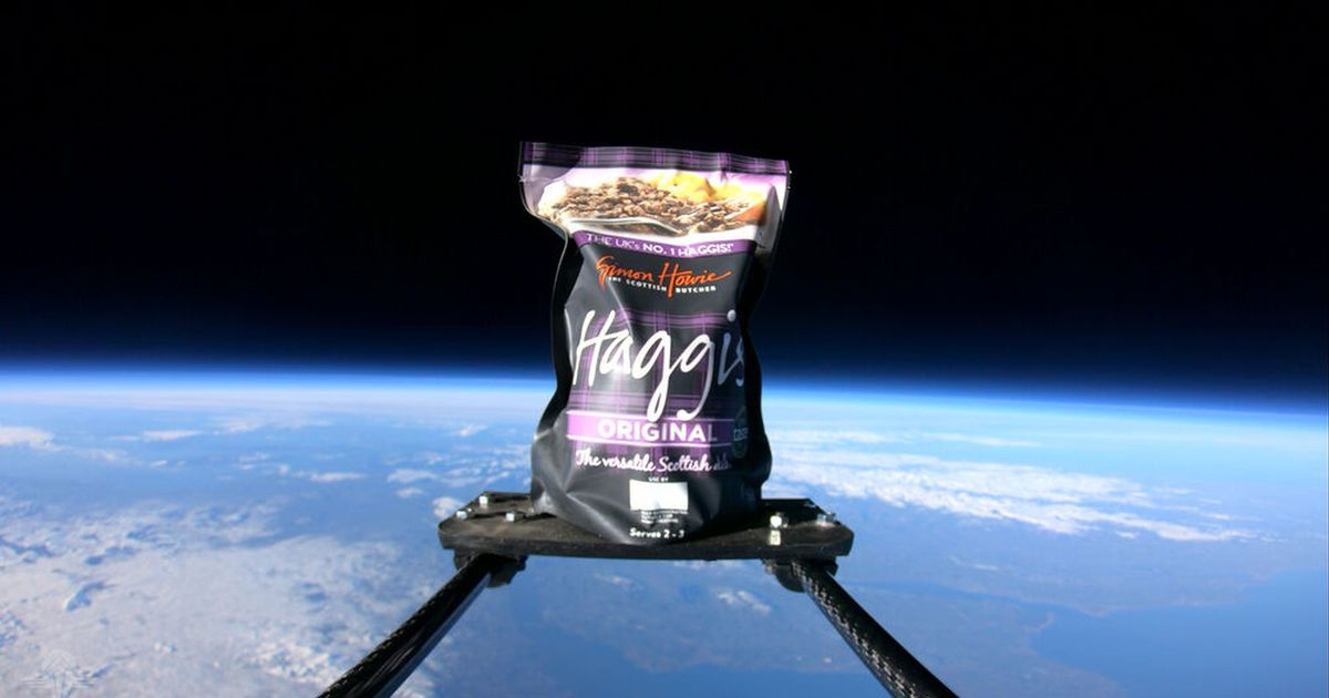 Haggis launched into space to mark Burn's Night