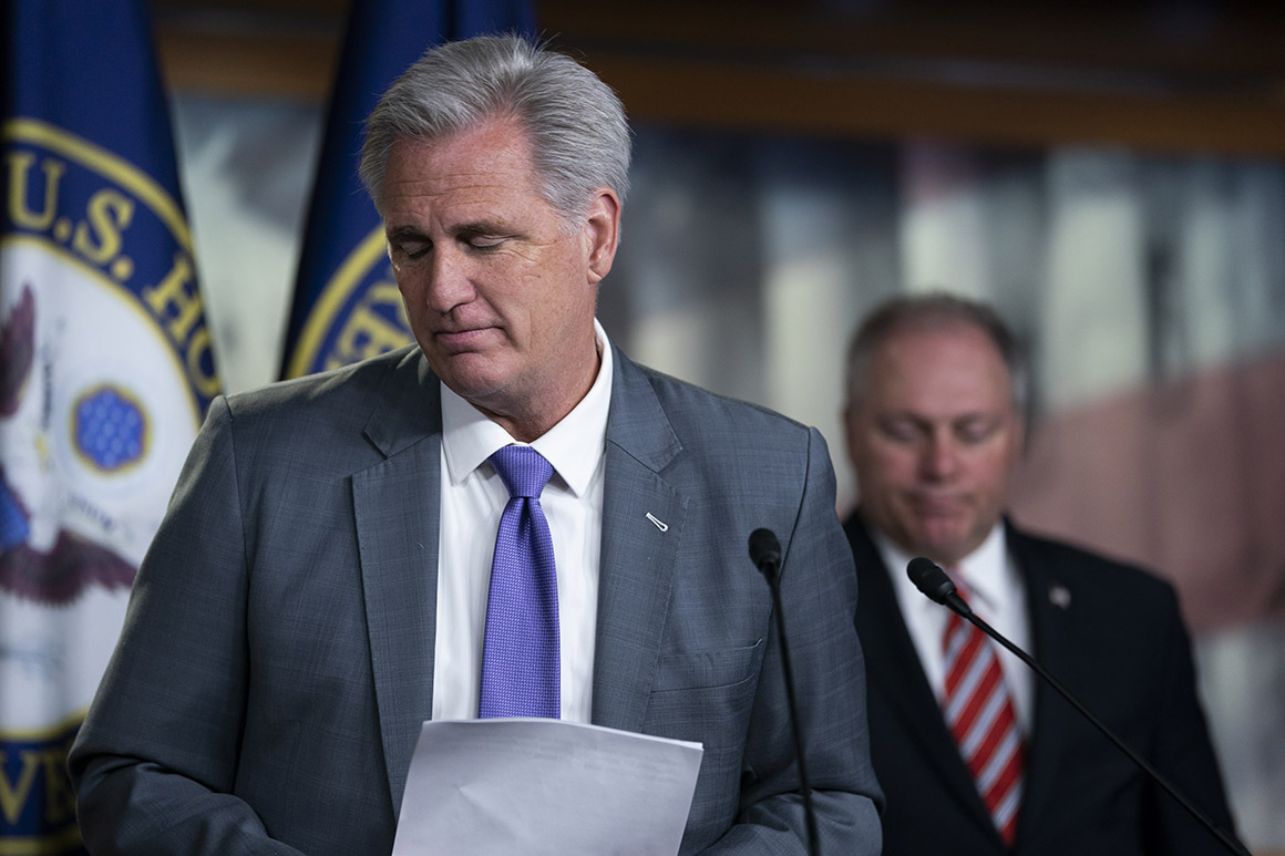 McCarthy and Scalise face internal dissension after Capitol riot