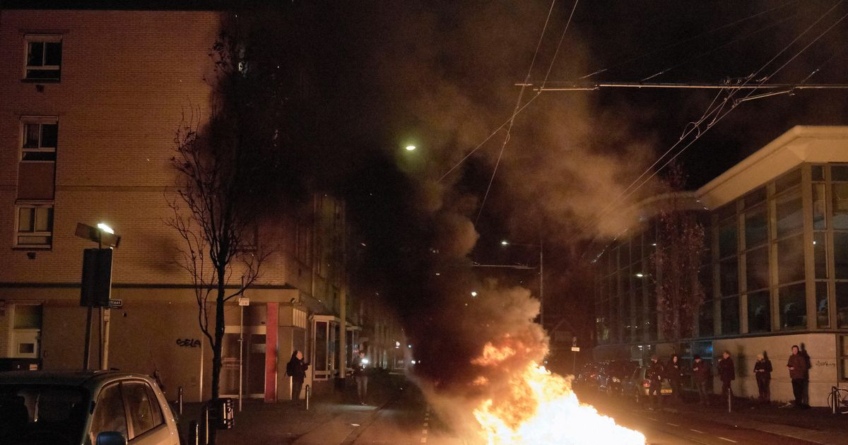 Riots break out in Netherlands as protesters clash with police over Covid curfew