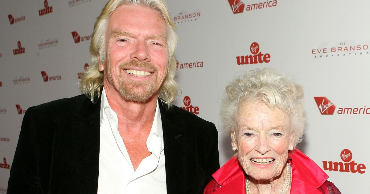 Sir Richard Branson announces mother Eve has died after Covid battle