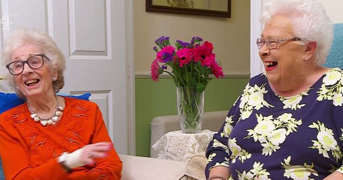 Stars of Gogglebox Mary and Marina get their vaccine together