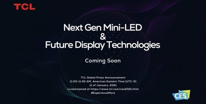 TCL to introduce mini LED TVs at CES 2021 event
