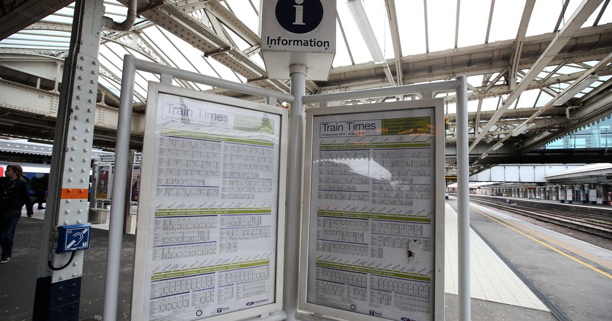 Warning to check train times in England as 28 per cent of services cut