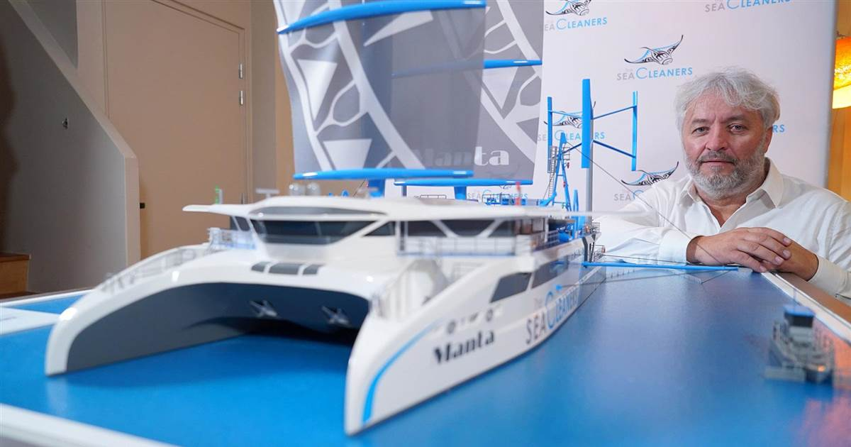 Yachtsman designs plastic-consuming boat to clean world's oceans