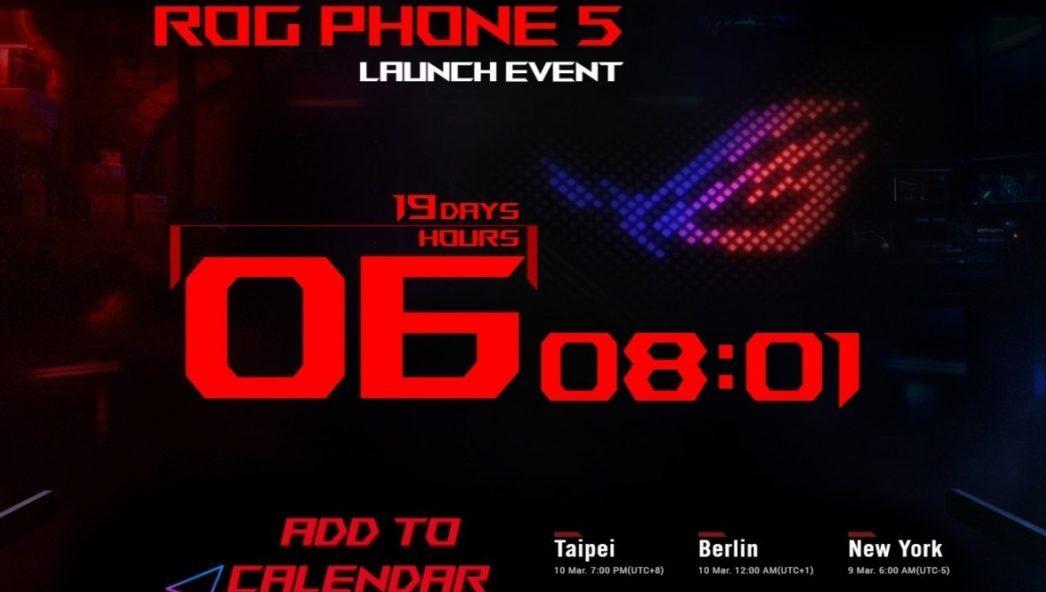 Asus ROG Phone 5 launch date has been announced