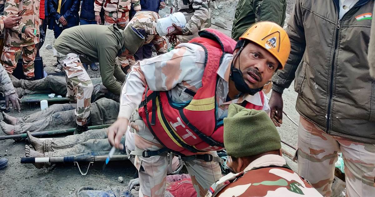 200 missing and feared dead after glacier collapse in India