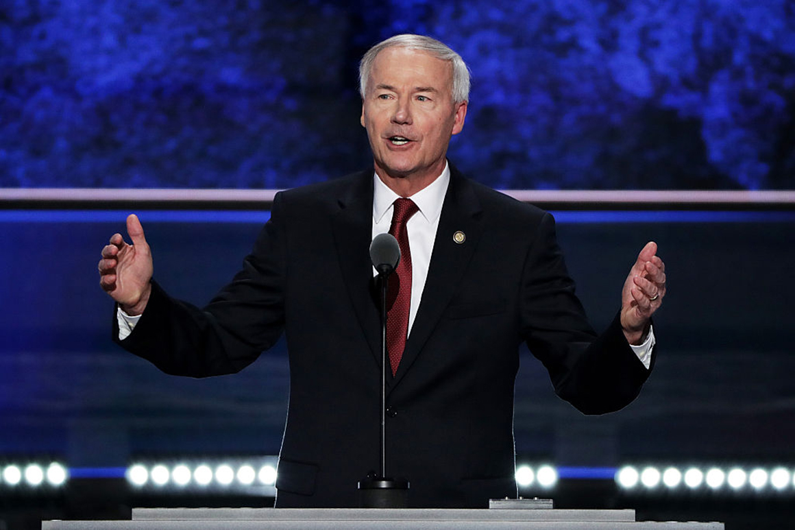 Arkansas' Republican governor says he wouldn't support 2024 Trump run
