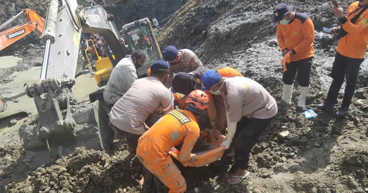 At least six killed after illegal gold mine collapses in Indonesia