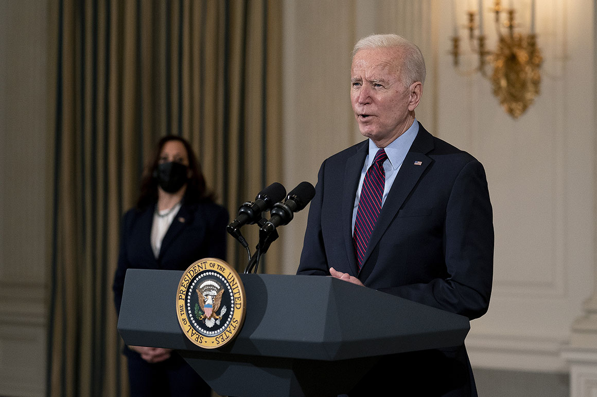 Biden brushes off rescue plan critics from left and right