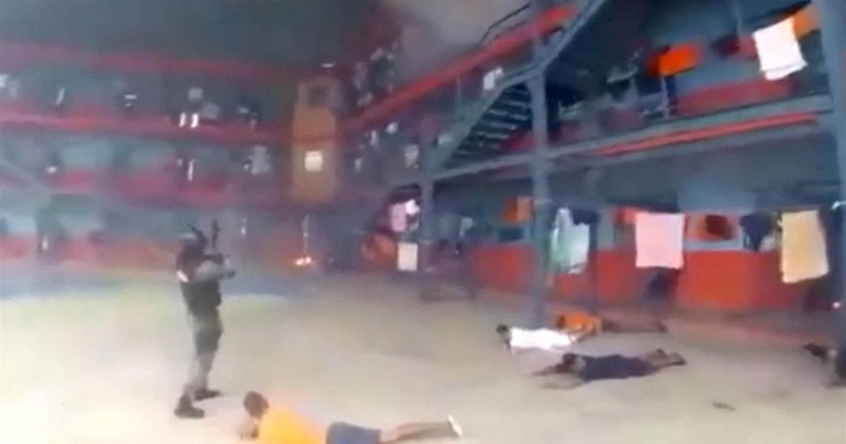 Bodycam video shows police quelling prison riot in Ecuador