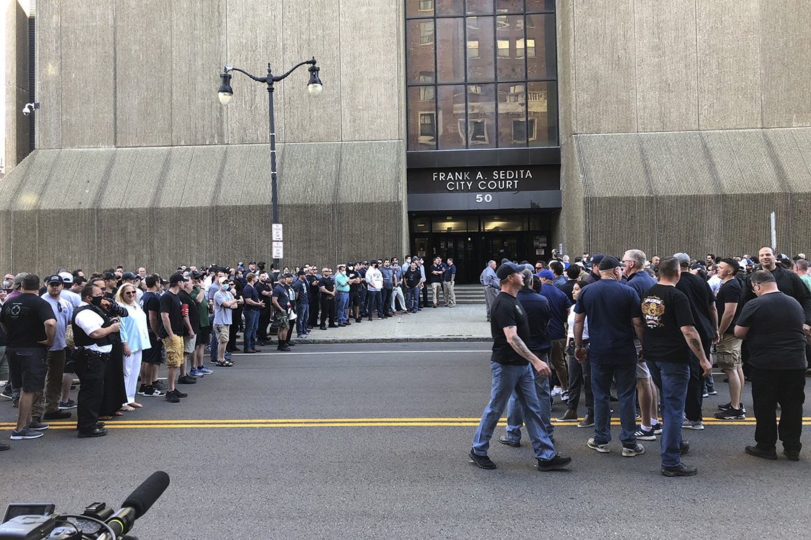 Charges dropped for officers seen shoving Buffalo protester