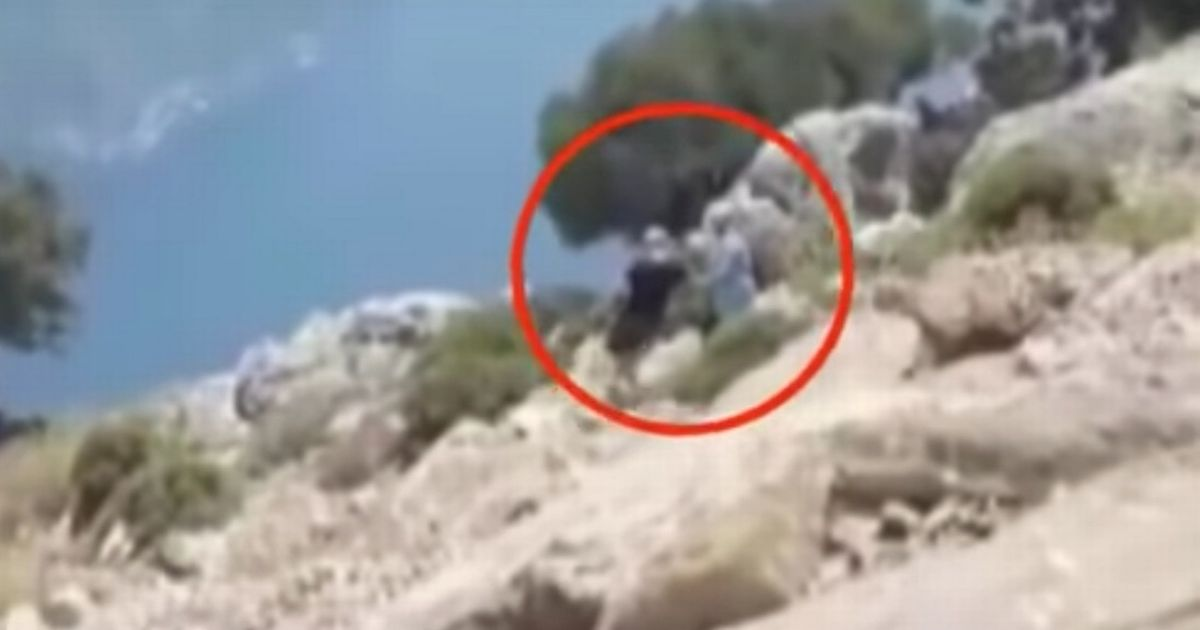 Chilling moments before husband 'pushed pregnant wife off cliff edge to death'