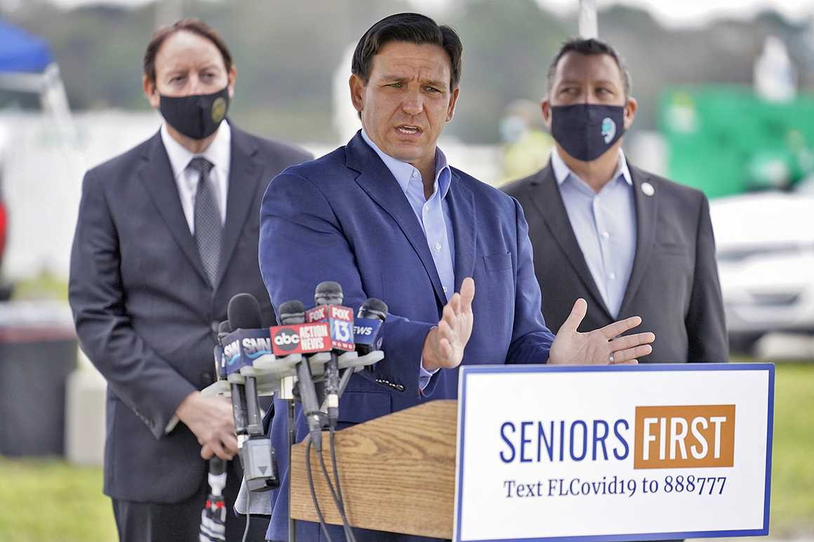 DeSantis defends opening vaccine pop-up site in affluent, mostly white community