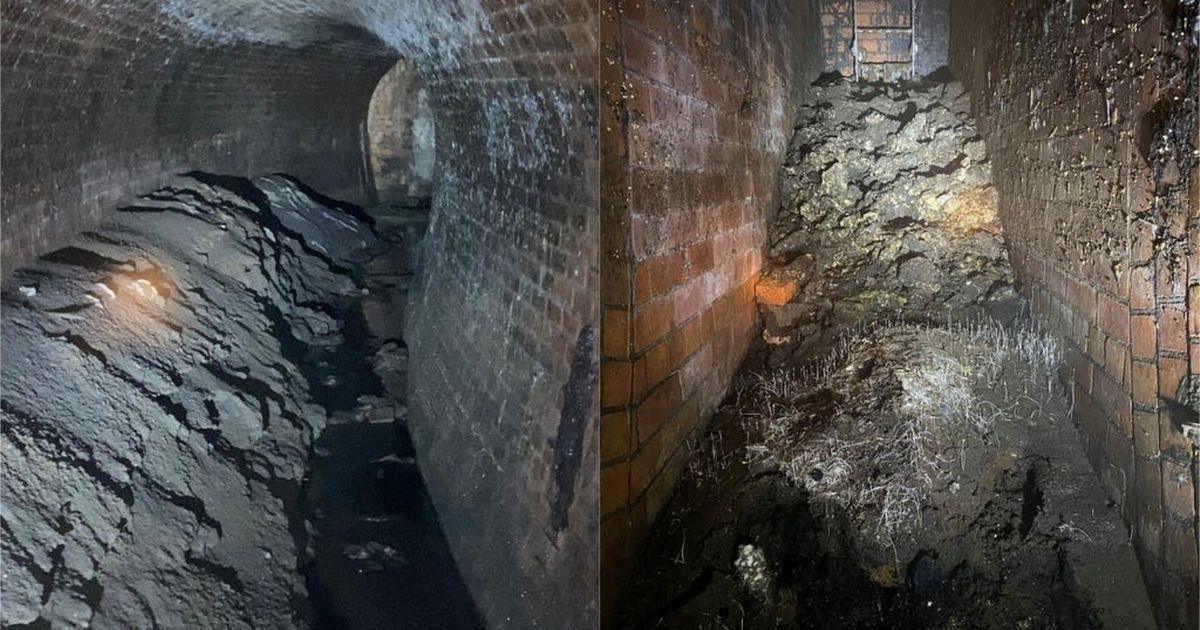 Disgusting fatberg the size of a house removed from sewer