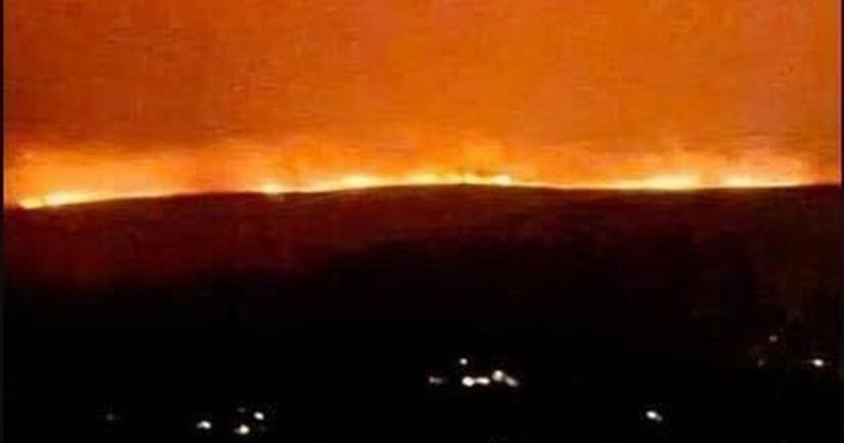 Large fire rages in Dartmoor that can be seen from miles away