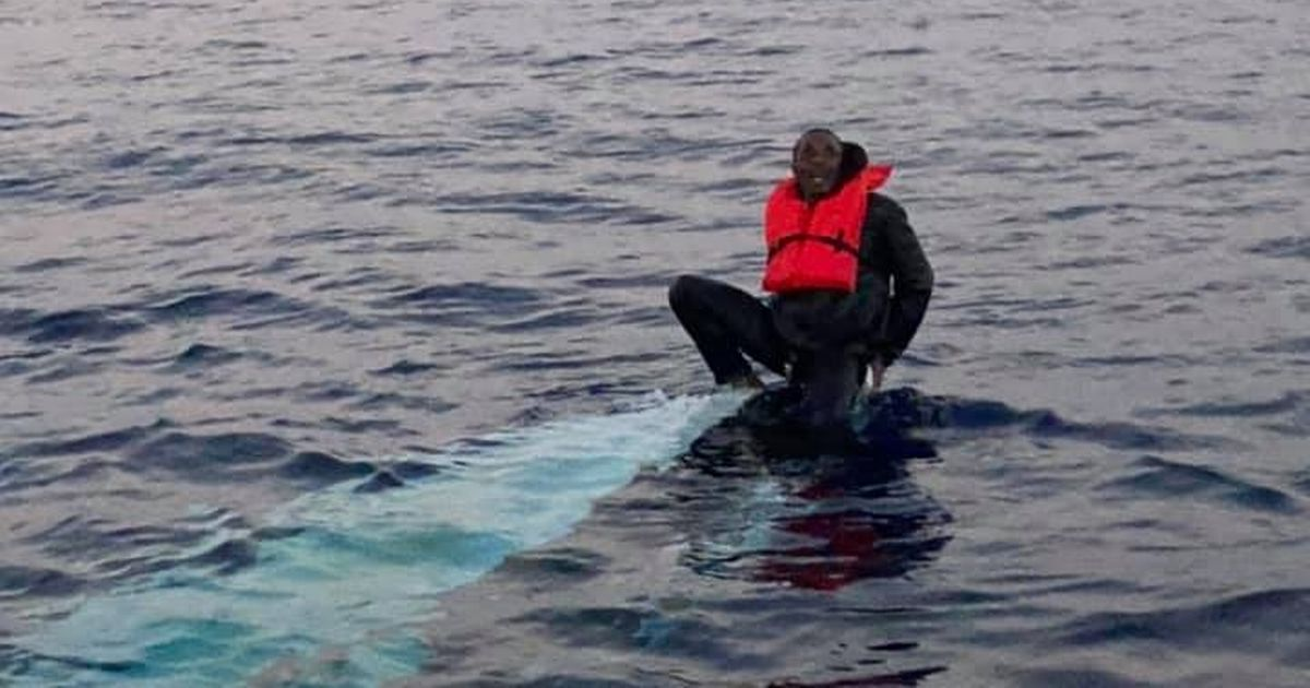 Man rescued by fishermen after 36 hours at sea clinging to tip of capsized boat