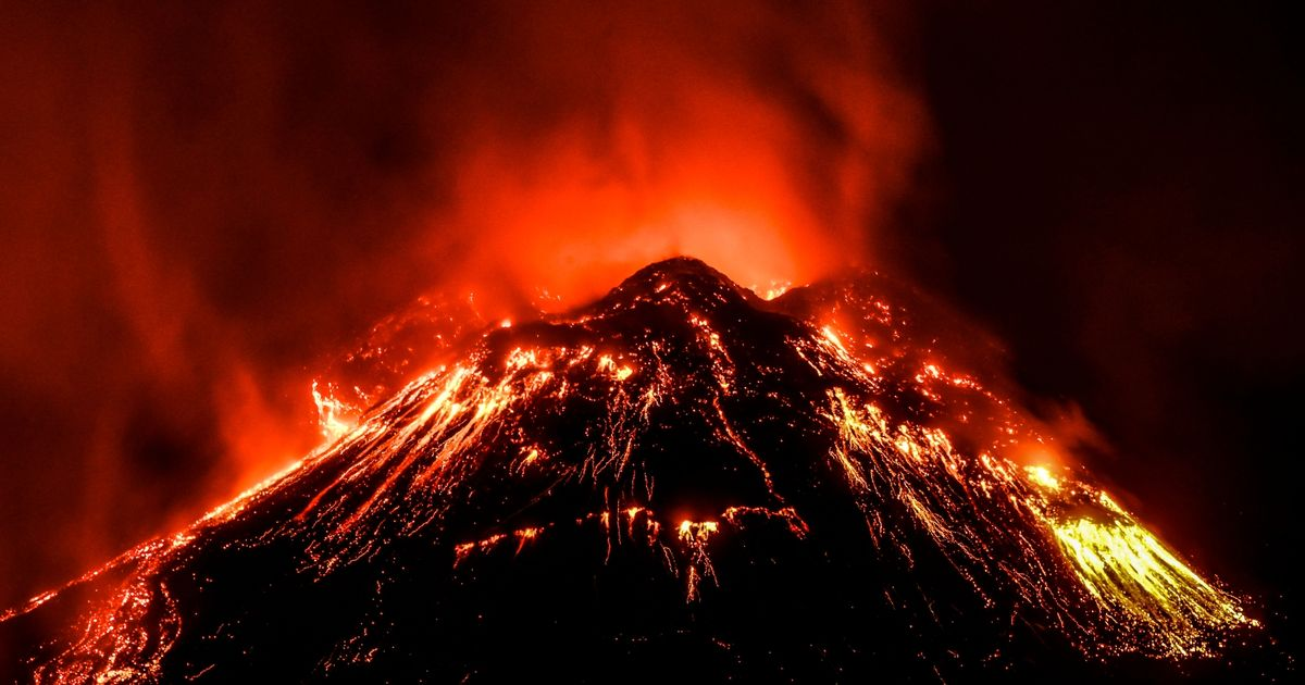 Mount Etna spews lava and ash into the sky as it erupts for 5th time this week