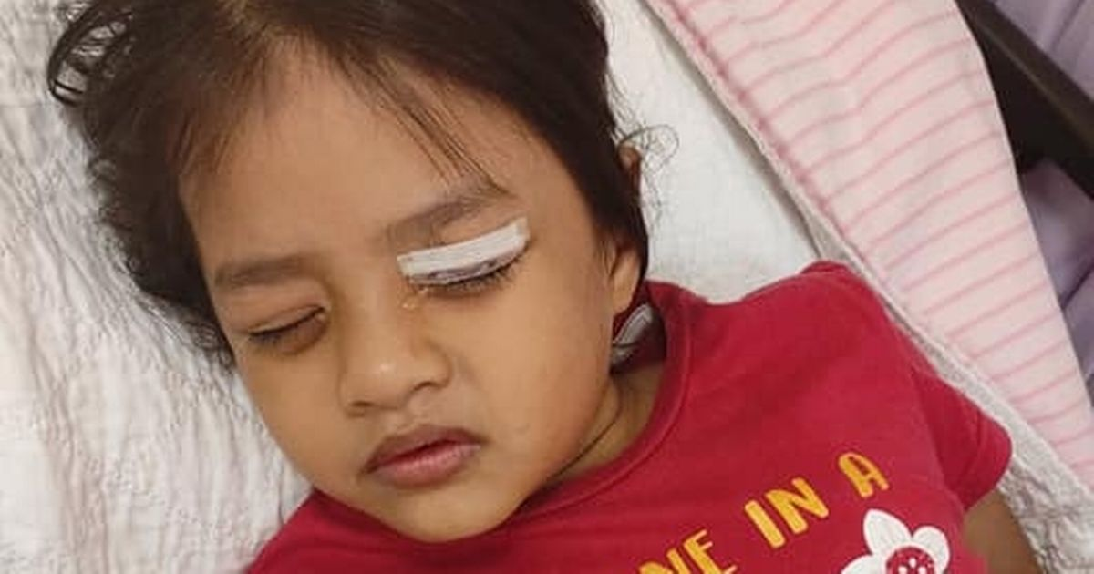 Mum's warning after six-year-old girl's horrific eye injury from clothes hanger