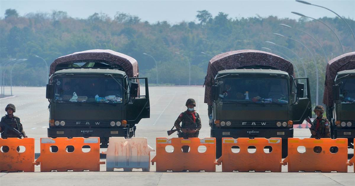Myanmar military takes control of country in coup, leader taken into custody