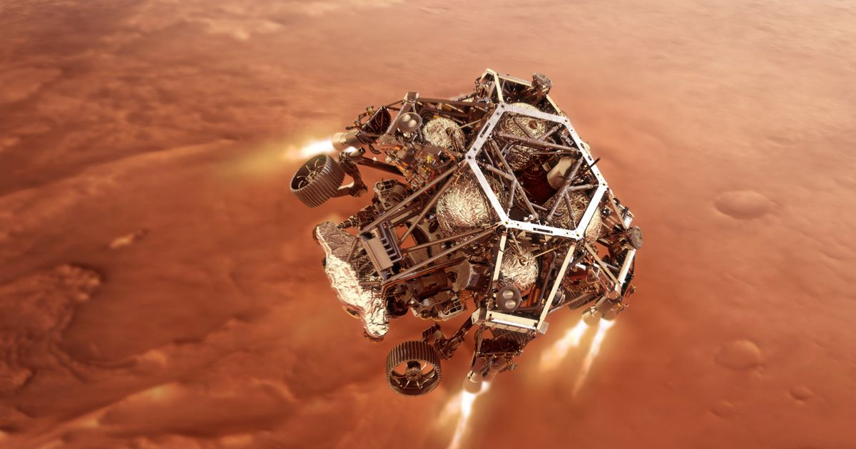 NASA's Perseverance  Mars rover lands on Red Planet after 300million mile voyage