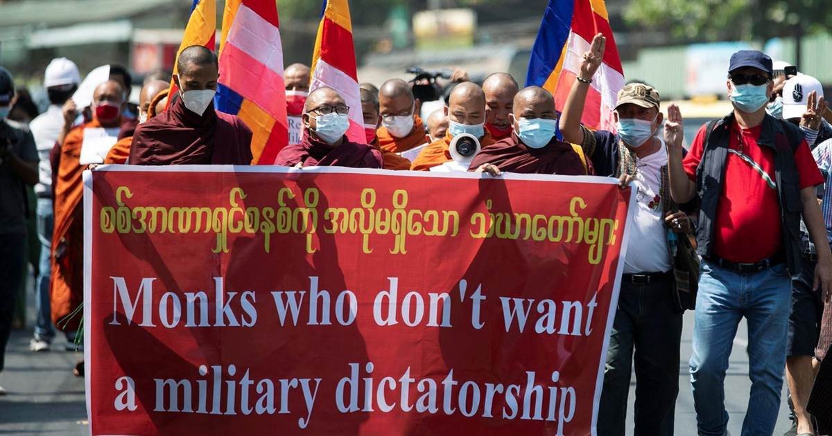Protesters defy Myanmar's military coup with civil disobedience
