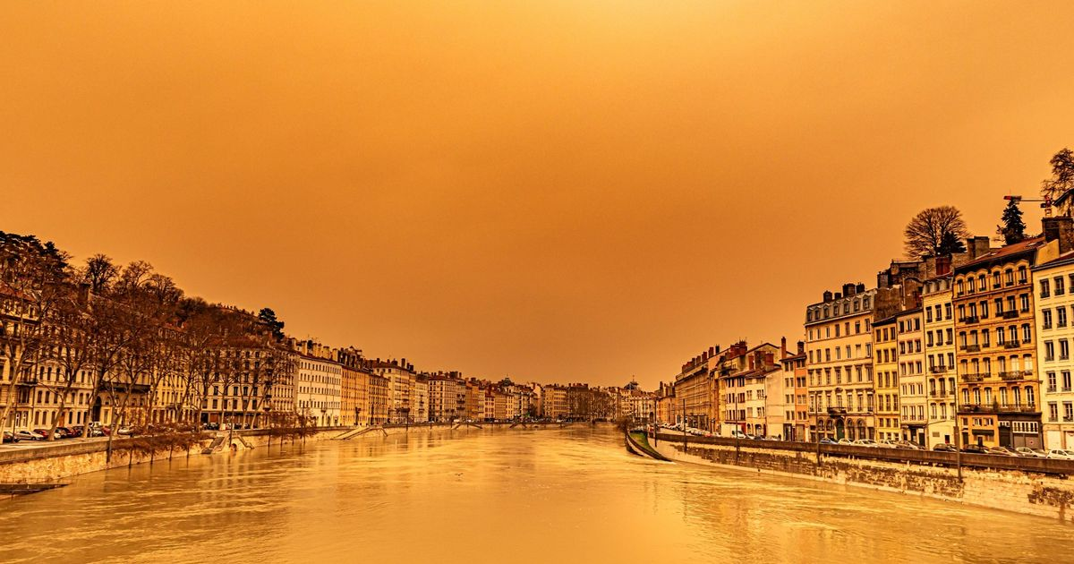Saharan sand turns skies orange after blowing thousands of miles from Africa