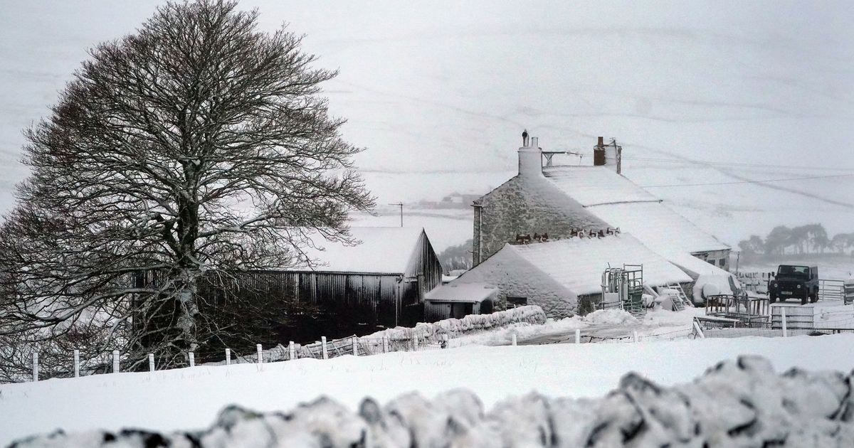 Storm Darcy set to bring heavy snow and gale force winds to parts of England