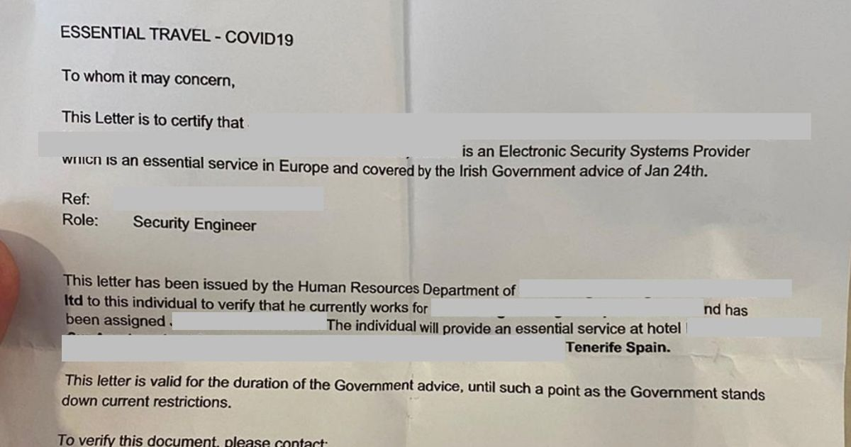 Sunseeker uses fake employer letter at airport as 'proof' for Tenerife holiday