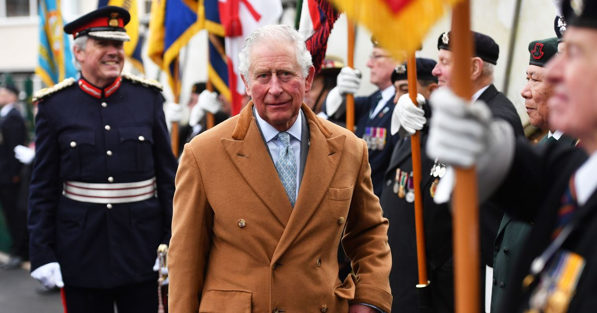 Teary looking Charles drove 200 mile round trip to see dad in hospital