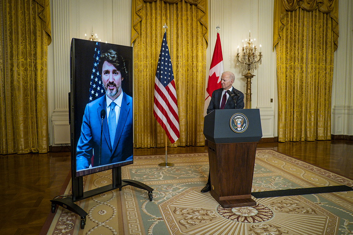 Trudeau: 'It's great to see America re-engage' under Biden