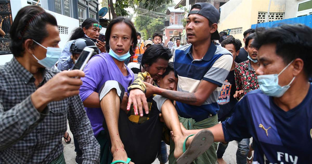 Two protesters shot dead by Myanmar police in Mandalay