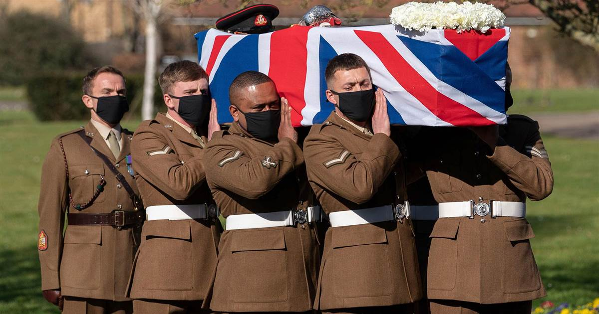 WWII veteran received military guard of honor at funeral after raising millions for Britain's health service