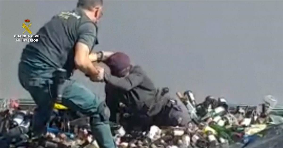 Watch: Migrants discovered in dumpsters trying to reach Europe