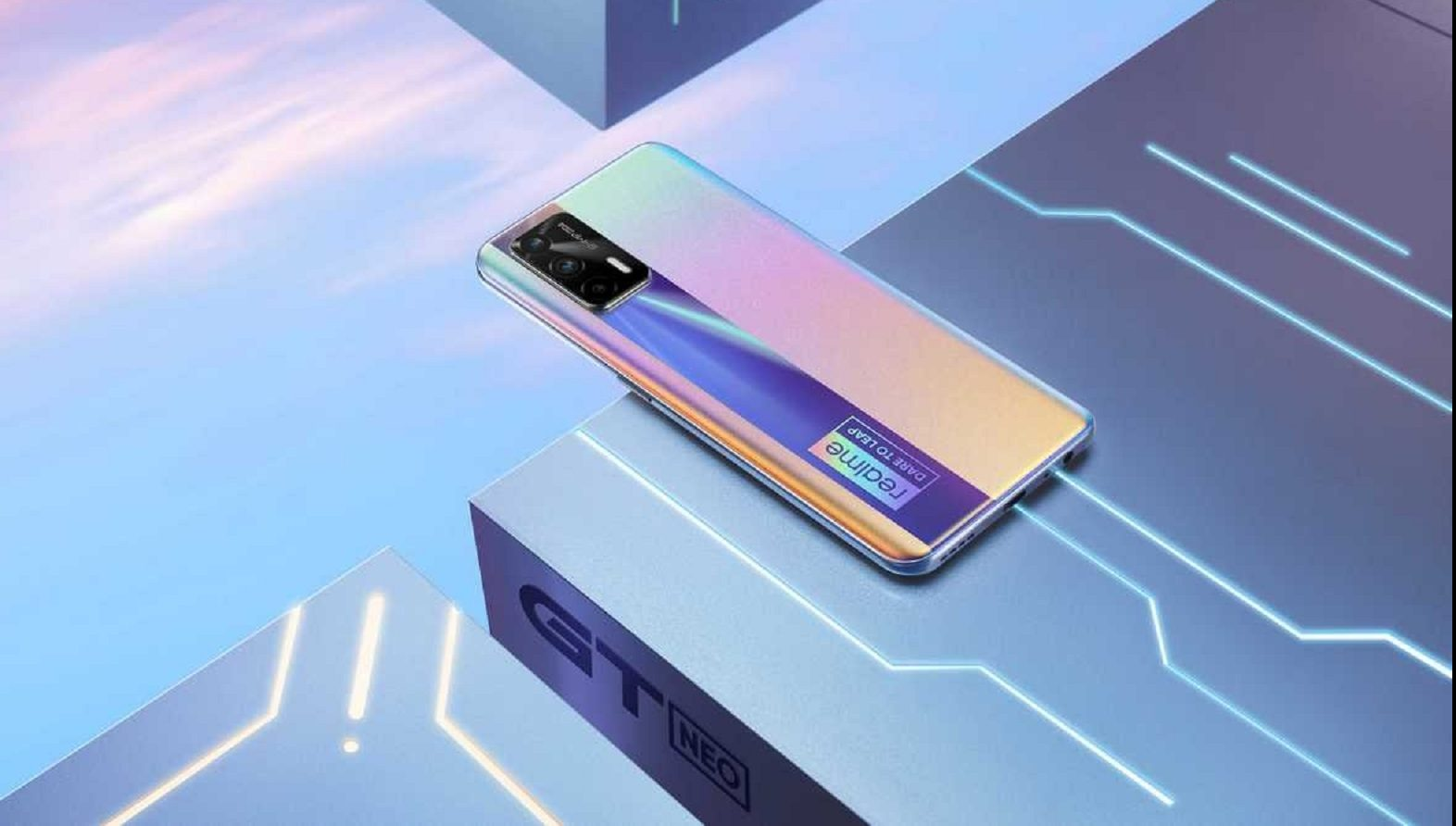 The first post showing the design of the Realme GT Neo