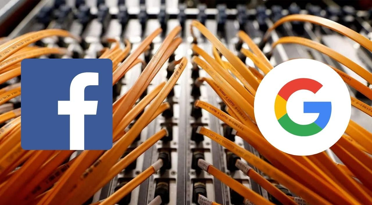 Facebook and Google will connect two continents