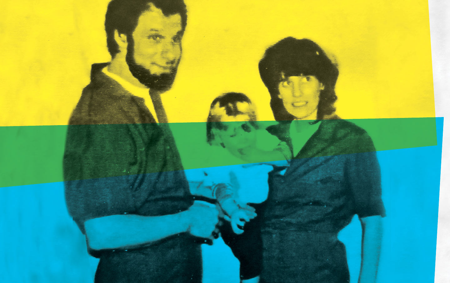 Chesa Boudin as baby with his parents