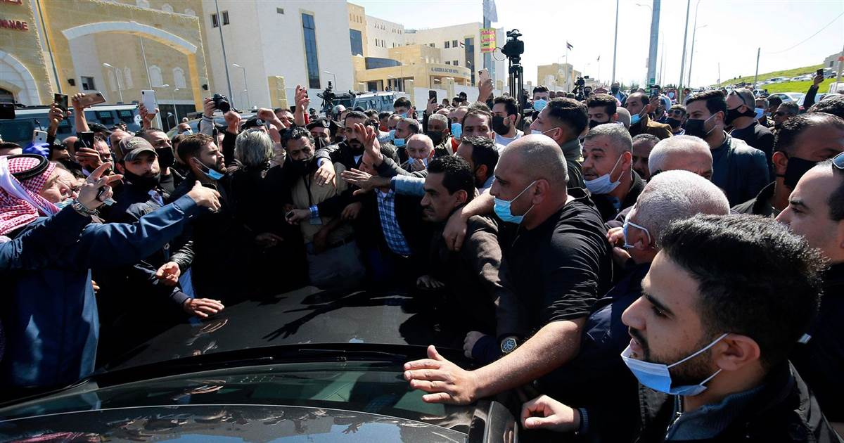 Anger during King of Jordan's visit to hospital where Covid patients died in oxygen shortage