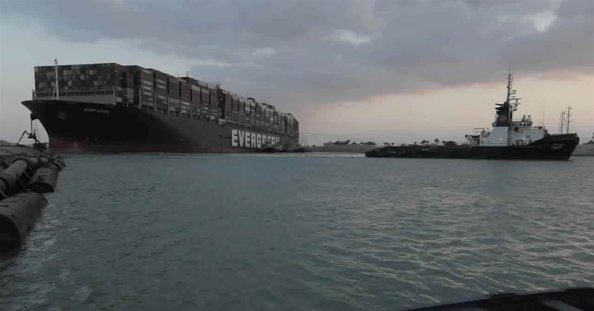 Containers could be taken off stranded Suez ship, officials say as salvage efforts continue
