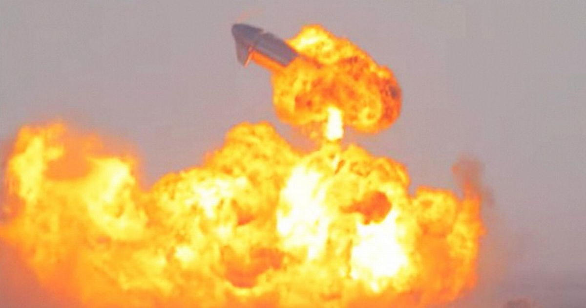 Dramatic moment SpaceX Starship rocket explodes in fireball just after landing
