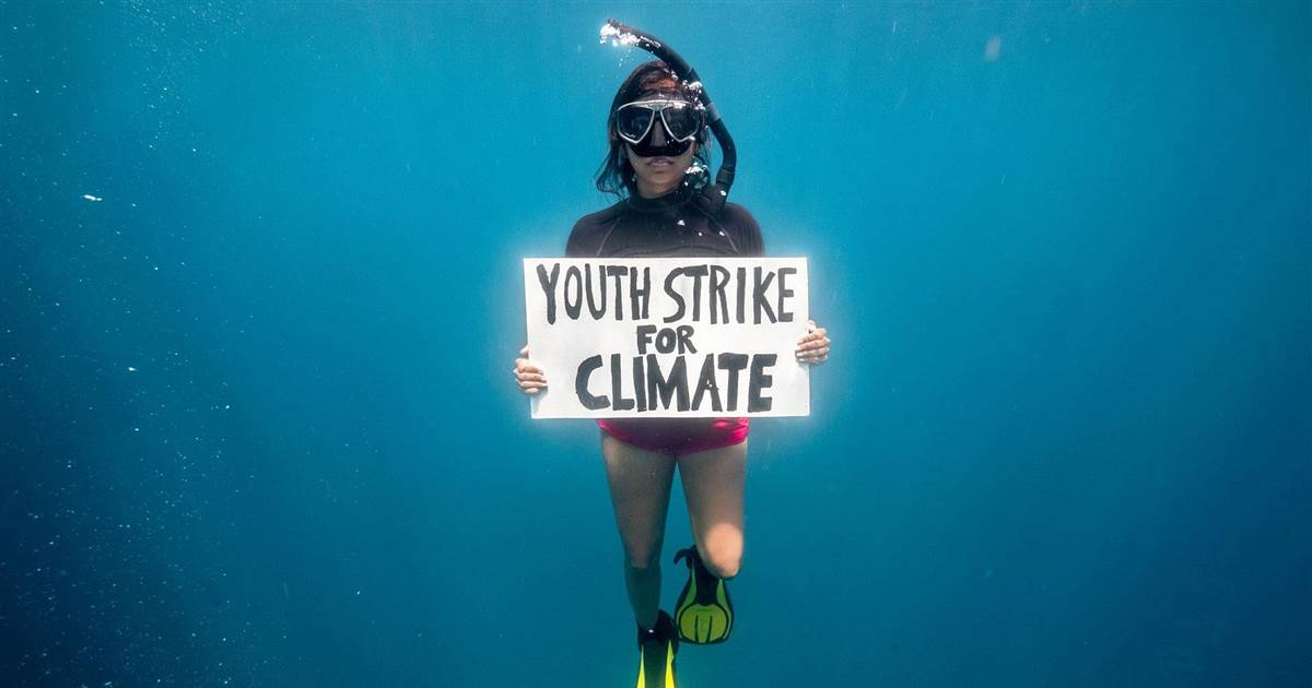 Friday for Futures activist seeks to protect ocean's seagrass field