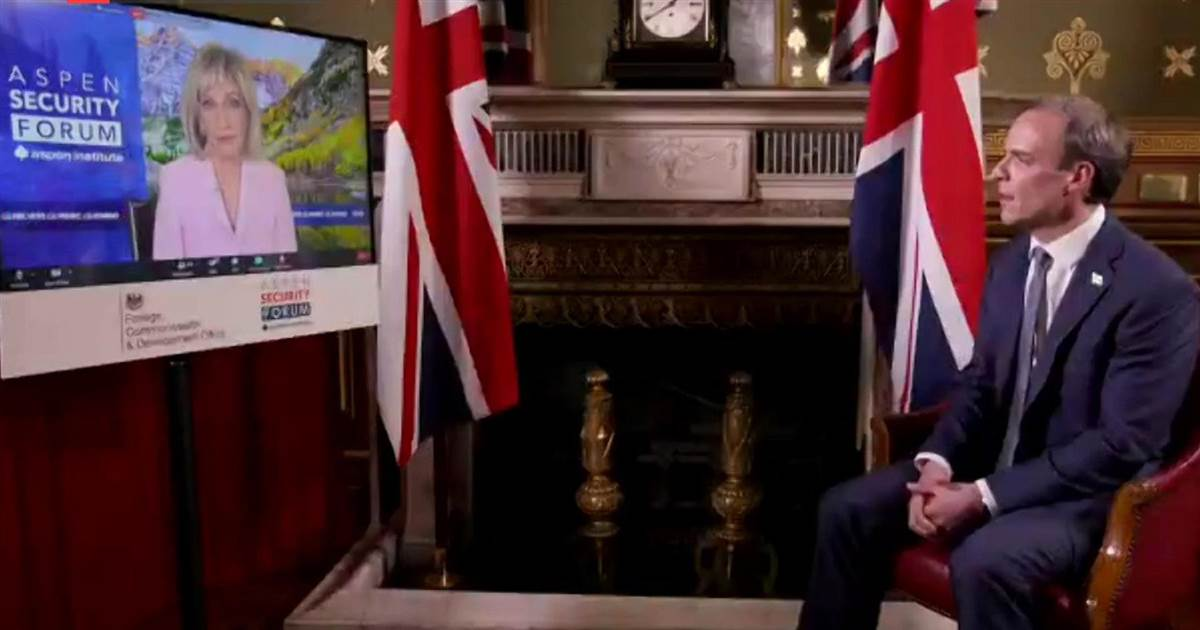 Full interview: Andrea Mitchell speaks with U.K. Foreign Secretary Dominic Raab for virtual Aspen Security Forum