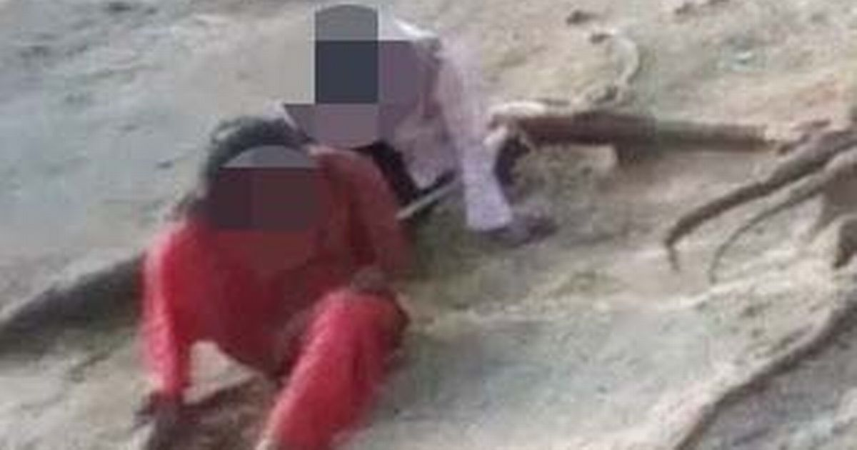 Girl, 16, tied by rope to her alleged rapist and walked through chanting crowds