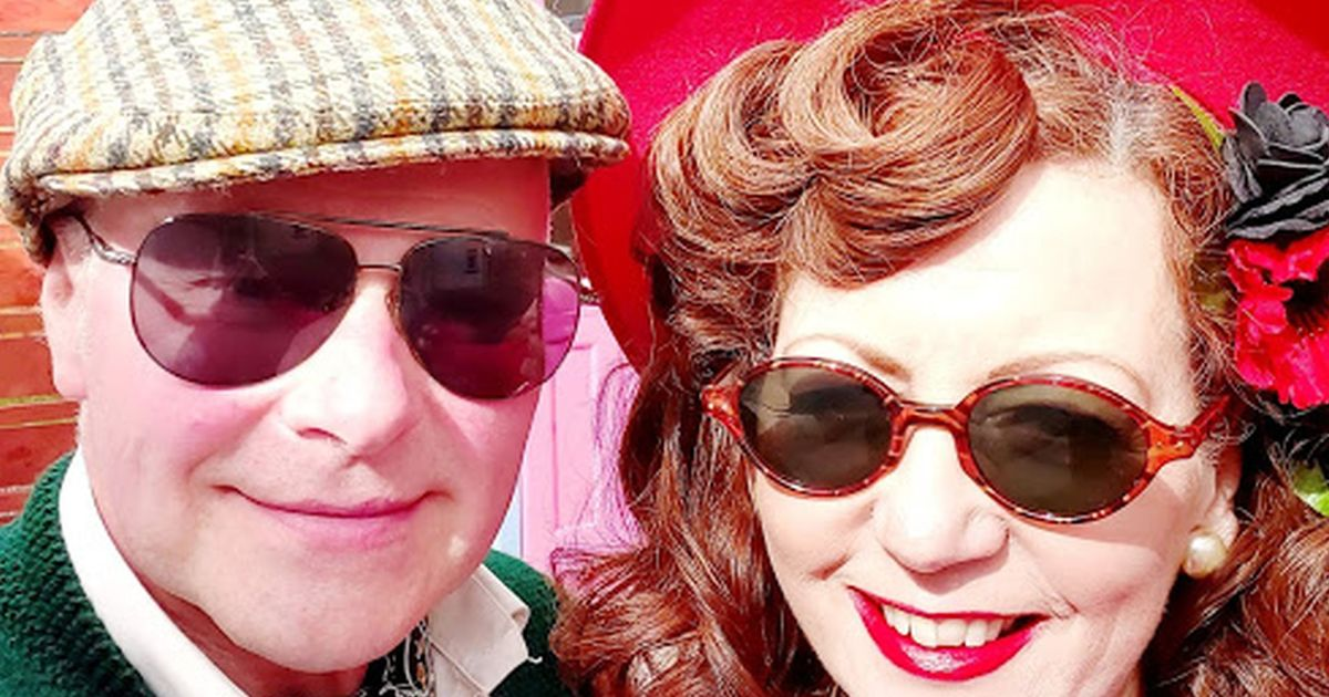 Glam couple 'born in wrong era' wear 1940s time-warp clothes all the time