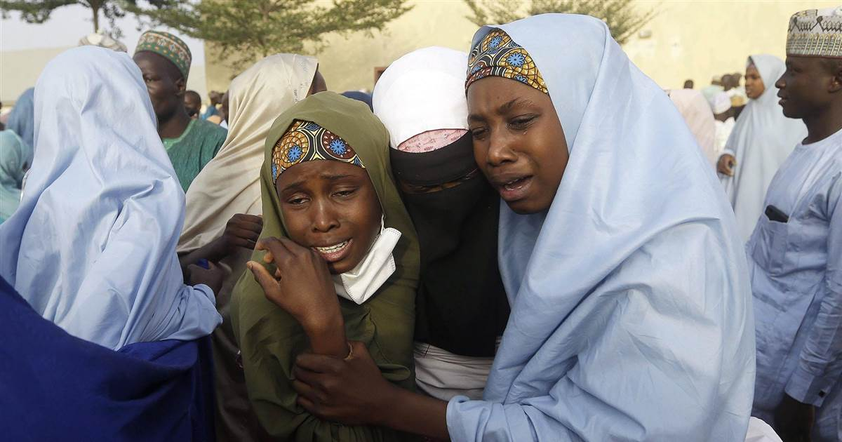 Gunfire mars reunion of abducted schoolgirls with families