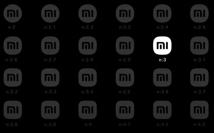 Here is Xiaomi's new logo with messages