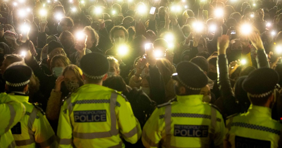 """Home Secretary wants """"full report"""" from Met after Sarah Everard vigil clashes"""