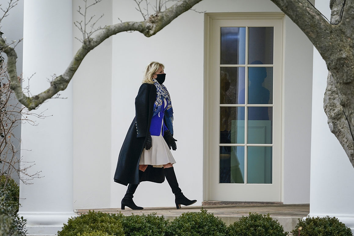 Needing to sell the Covid bill, the White House calls in Dr. Jill