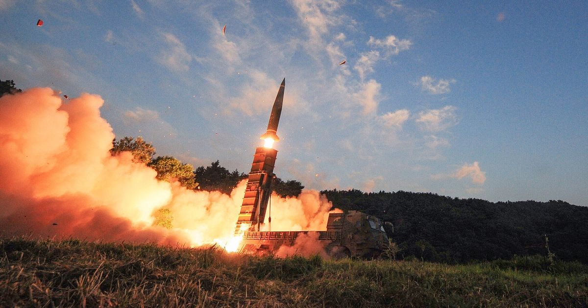 North Korea fires 'missile' into the sea days after 'short range weapon test'